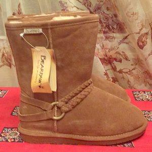 BearPaw brown 9 Adele suede upper Wool lining boot